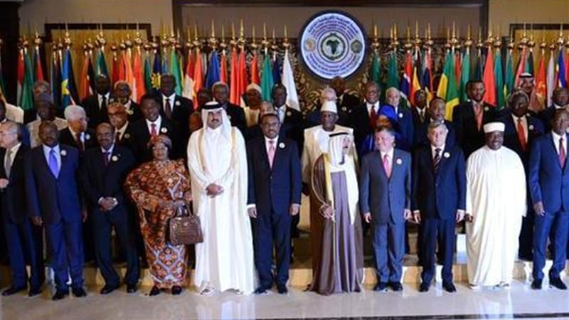 The summit hosted leaders - and media representatives - of the African and Arab worlds [AP]