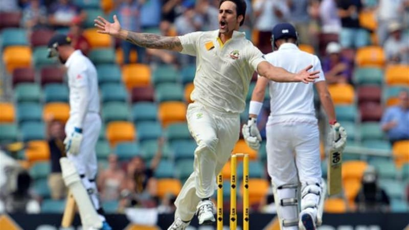 What a difference a day make: Johnson ensured that England's challenge is almost over in Brisbane [AFP]