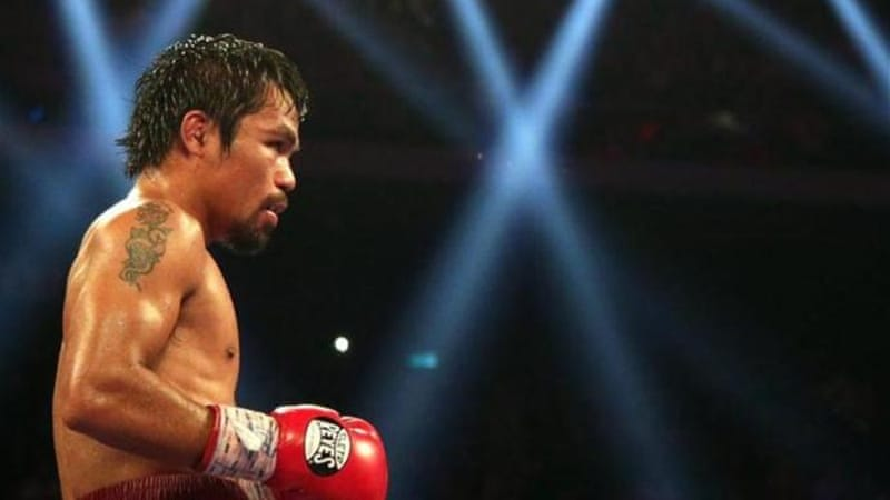 Philippine boxing hero Pacquiao promised to help typhoon victims in his country [Getty Images]