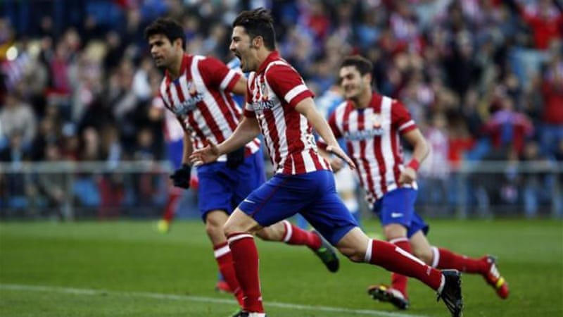 Capital gains: David Villa is scoring goals for Atletico Madrid instead of Barcelona this season [Reuters]