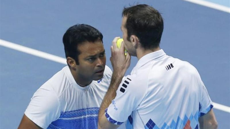 Paes, left, with his doubles partner Stepanek, says he has many reasons to continue playing on into his forties [AP]