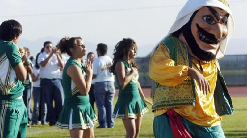 Coachella school's mascot is often entertained by a belly dancer [Reuters]
