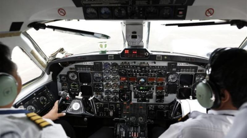 Many professionals, like airplane pilots, are now required to speak English by industry standards [Reuters]