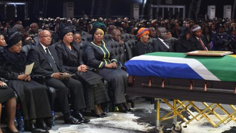 """Yet, I also think it might be that there is a ritual of mourning and celebration that many South Africans are still to have for Nelson Mandela, and that is the ritual of burying a comrade,"" writes Pillay [AP]"