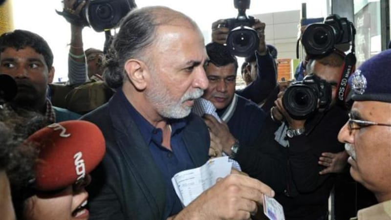 Media reports said Tejpal broke down during the interrogation which lasted a few hours [AFP]