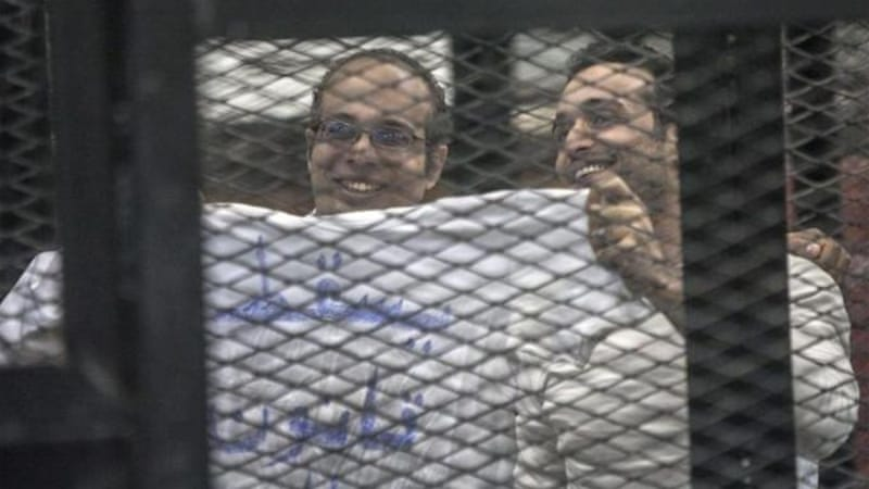 Many activists, such as Ahmed Maher and Ahmed Douma, who were involved in the revolution, are behind bars [AP]