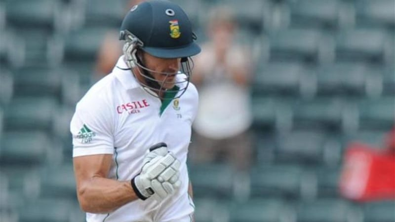 Many South Africans feel that Du Plessis' double-century partnership with De Villiers was wasted [AFP]