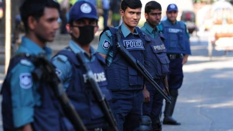 Police and security forces have conducted nationwide raids ahead of predicted opposition march. [AFP]