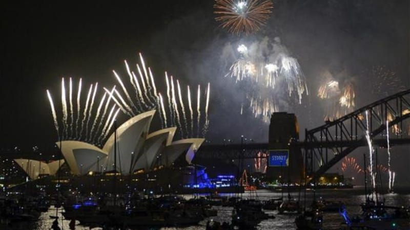 Fireworks shot off Sydney's Opera House late on Tuesday for the first time in more than 10 years [AFP]