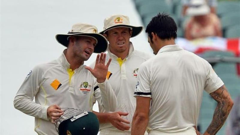 Australia captain Michael Clarke, left, has manoeuvered his team into a winning position [AFP]