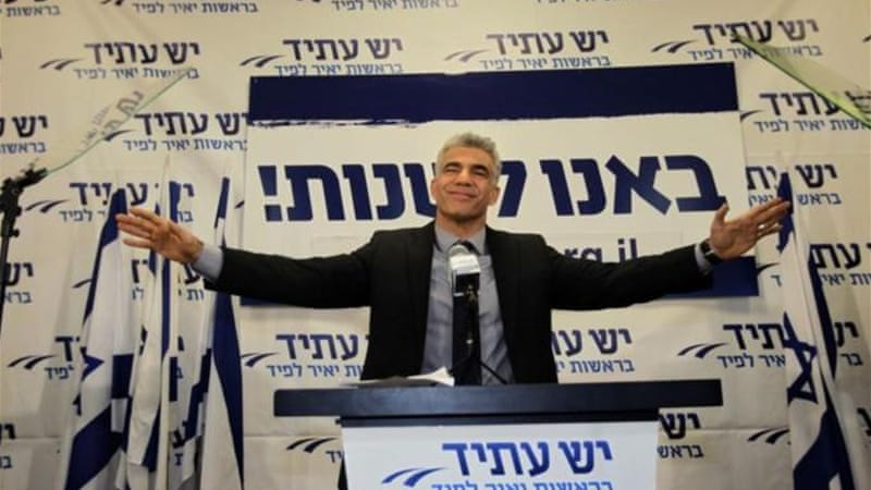 Yair Lapid's centrist party Yesh Atid won 19 seats in the recent Israeli elections [AP]