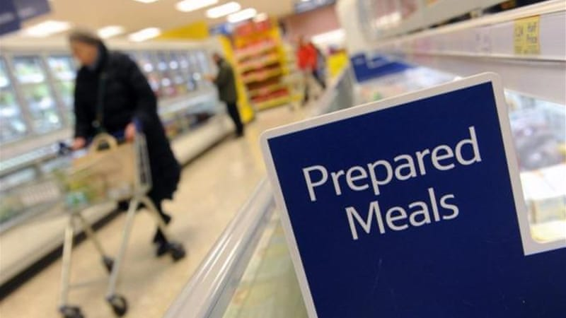 British supermarket Tesco has admitted that its bolognese sauce contained up to 60 percent horse meat [EPA]