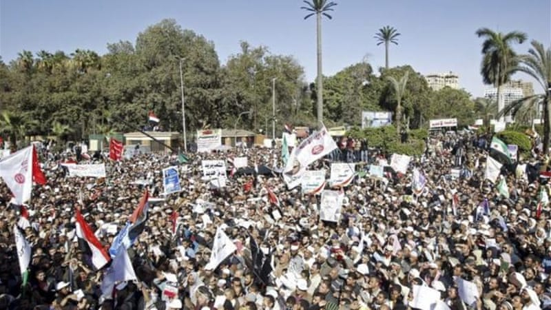 Thousands showed their support for Morsi, Egypt's first democratically-elected president [Reuters]