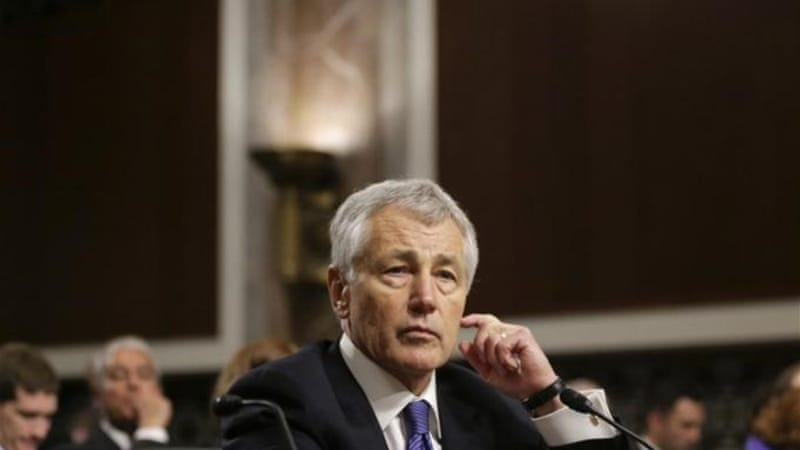 Obama's secretary of defence nominee Chuck Hagel was grilled at the Senate confirmation hearing [AP]