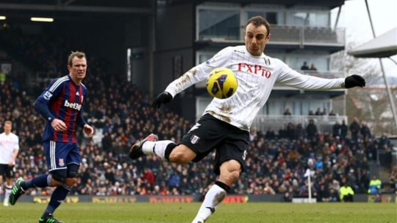 Fulham are now nine points clear of relegation zone after Berbatov thumped in winner at Craven Cottage [GETTY]