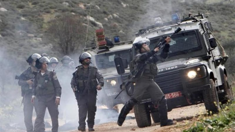 Israeli soldiers have fired tear gas at stone-throwing protesters in the occupied West Bank in recent days [Reuters]