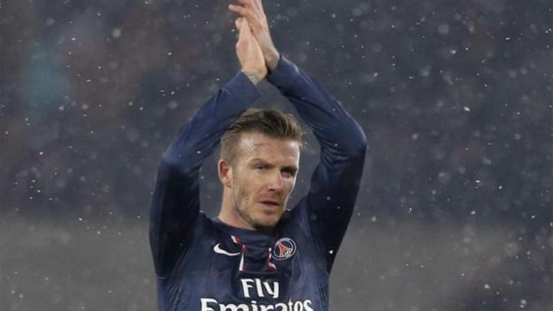 PSG sporting director Leonardo said Beckham 'is not sitting a test' and is at PSG to help [AP]