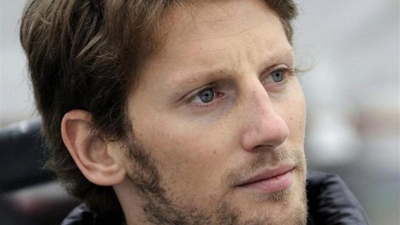 Calmer in 2013? Grosjean was labelled 'first lap nutcase' by Mark Webber after being involved in number of crashes [AFP]