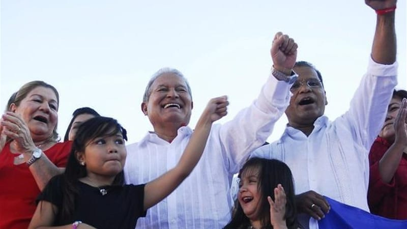 Salvador Sanchez Ceren was nominated as the FMLN's presidential candidate for the 2014 elections [Reuters]