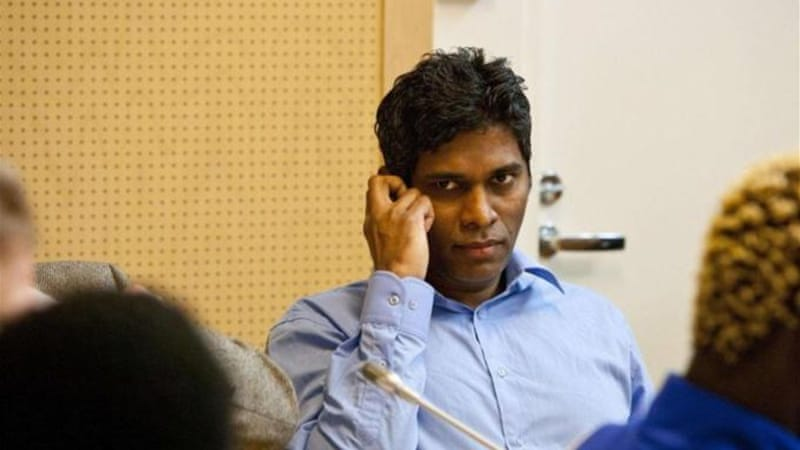 Singaporean Wilson Raj Perumal (C) was jailed in Finland for match-fixing and was linked to gambling syndicates [Reuters]