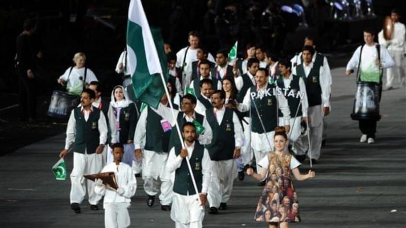 The Pakistan Olympic athletes enter London's Olympic Stadium in July 2012 [GALLO/GETTY]