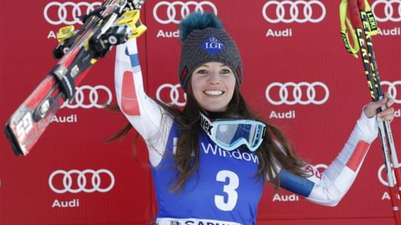 Weirather enjoys victory after recovering from an injury that destroyed her 2010 and 2011 seasons [AP]