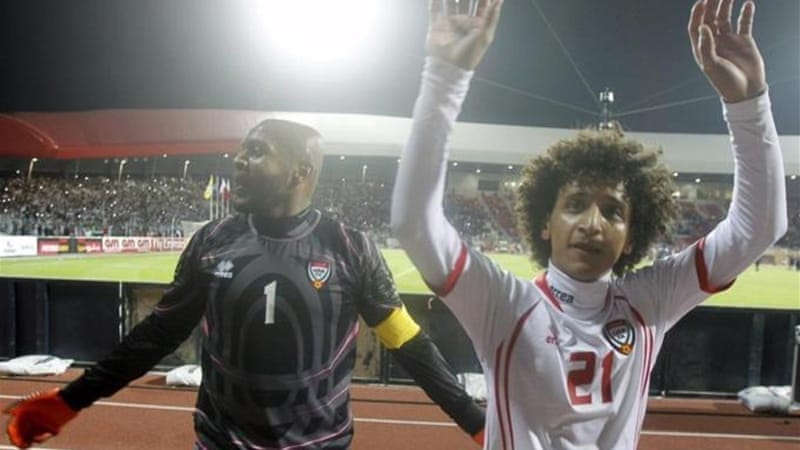 Abdulrahman (R) could be crucial to the development of football in the UAE and Asia [Reuters]