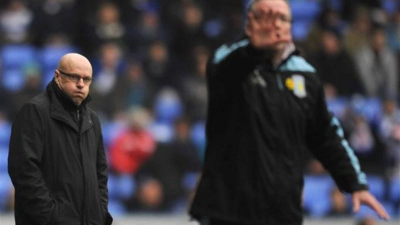 A 2-1 defeat to Aston Villa on Saturday was the nail in the coffin for manager McDermott (L) [GETTY]