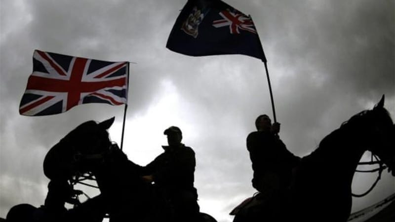 "In a recent referendum, Falkland Islanders overwhelmingly voted to remain under British sovereignty, yet a poll last year showed that only 29 percent ""identified"" as British [EPA]"