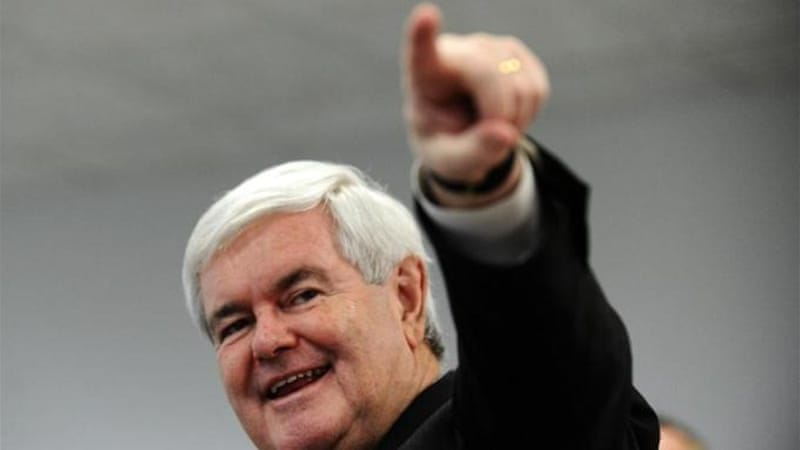 "Newt Gingrich, upon becoming Speaker of the House in 1995, spent time disabling ""reality checks"", says author  [AFP]"
