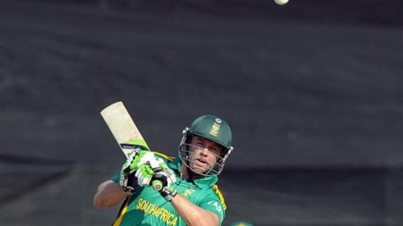 South African all-rounder AB de Villiers was one of few batsman on form during fifth ODI game [AFP]