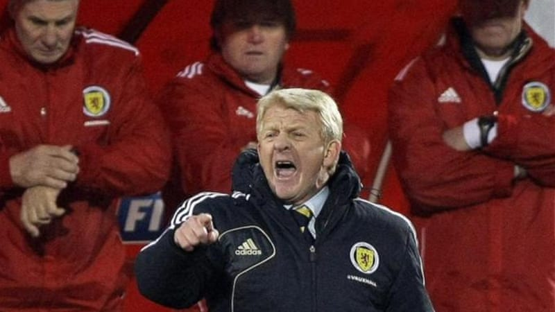 Scotland manager Gordon Strachan says there are some promising Scottish youngsters coming through [EPA]