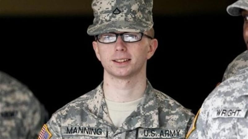 """I felt I had accomplished something that allowed me to have a clear conscience based upon what I had seen and read about and knew were happening in both Iraq and Afghanistan everyday,"" said Army PFC Bradley Manning [AP]"