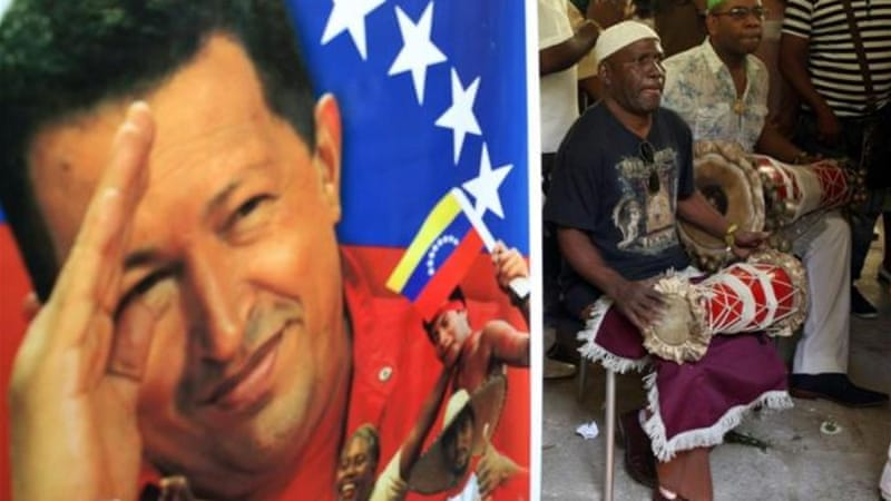 Chavez was praised for passing anti-discrimination laws and adding the Afro Descendent category to the census [EPA]