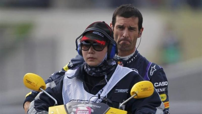Moped rescue: Webber had a frustrating weekend in China after running out of fuel during qualifying [Reuters]