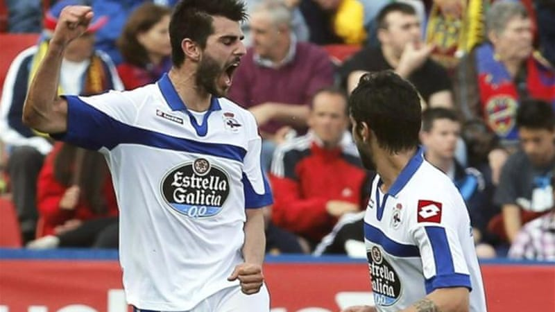Deportivo La Coruna are fighting for survival despite going into voluntary administration [EPA]