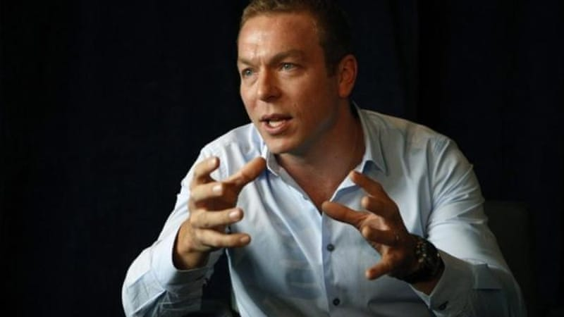 This picture suggests Chris Hoy next wants to compete in a ball sport (although this cannot be confirmed) [Reuters]