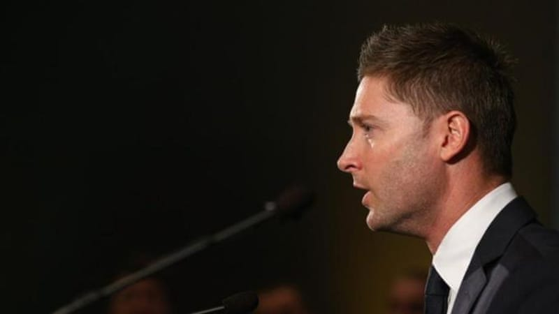 Test captain Michael Clarke was on the receiving end of questions not balls at press conference [GALLO/GETTY]