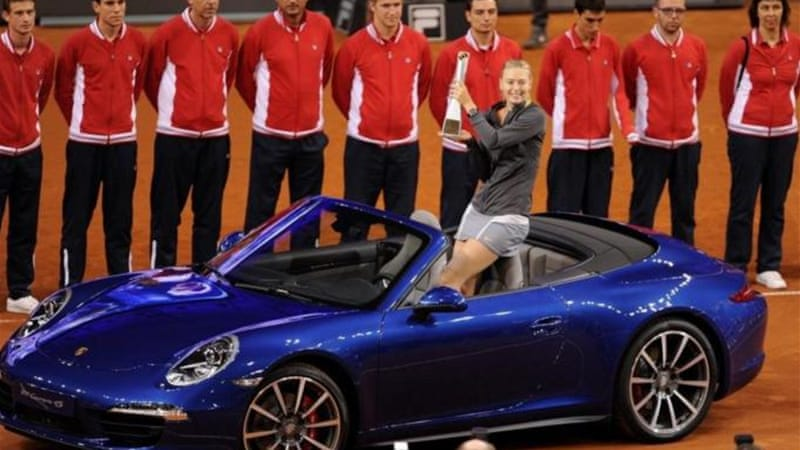 World number two Maria Sharapova claims her second title of the year against Li Na [AP]