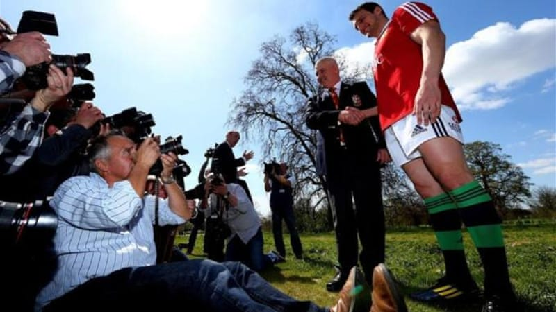 Warburton (R)- The British and Irish Lions Captain - poses for cameras alongside Warren Gatland [GALLO/GETTY]