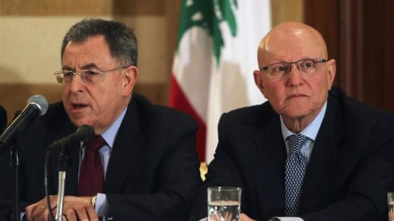 Salam, right, received the backing of Lebanon's March 14 coalition on Friday [Reuters]