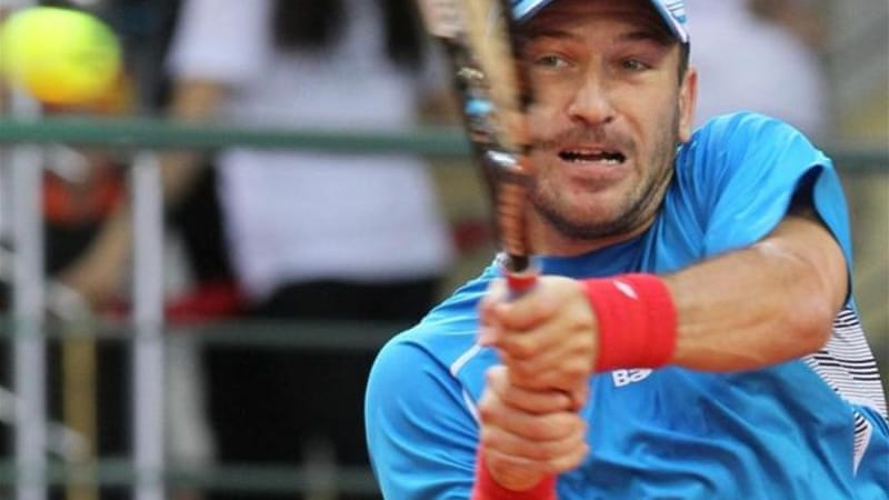 Czech Hajek opened quarter-final with a three-set victory over Kukushkin in Kazakh capital Astana [AFP]