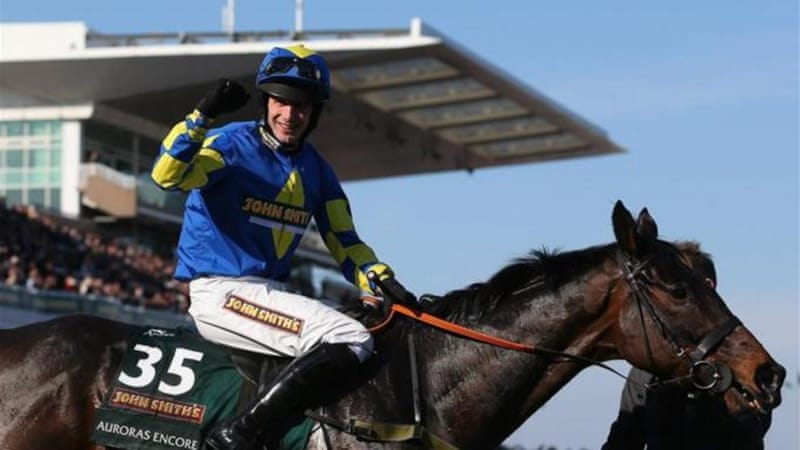 More calm than Mania: Ridden by Ryan Mania, Auroras Encore was a shock winner of 2013 Grand National [GALLO/GETTY]