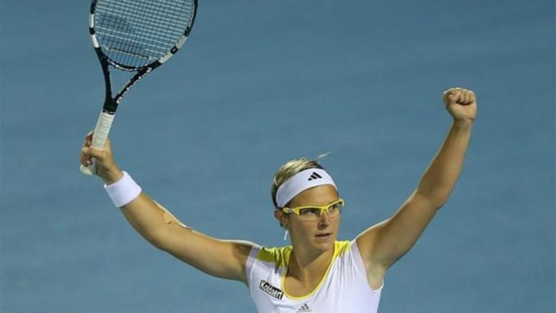 Top ranked Belgium player Kirsten Flipkens (pictured) may join Yanina Wickmayer by pulling out of playoff [GETTY]