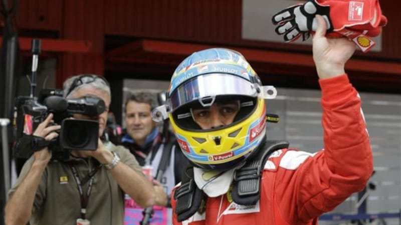 Alonso put on great display in front of home supporters but was outraced in second practice by Vettel [AP]