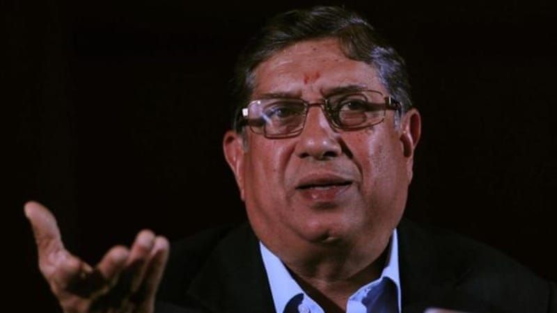 The man under fire: N. Srinivasan's son-in-law has been suspended pending inquiry into spot-fixing scandal [AFP]