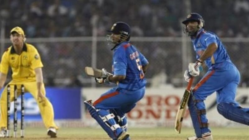 There is no place for Yuvraj Singh (R) or Gautam Gambhir (C) - who is replaced by Shikhar Dhawan [AP]