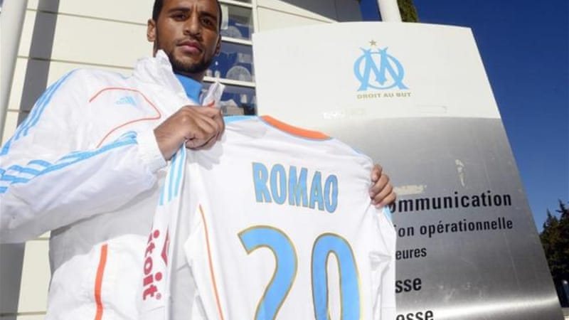 Marseille signed French-born Togolese midfielder Alaixys Romao in February 2013 [AFP]