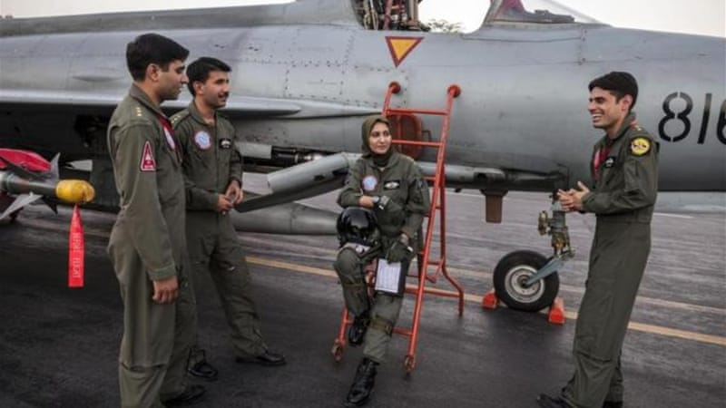 Ayesha Farooq said she does not feel different from her male colleagues at Mushaf base [Reuters]