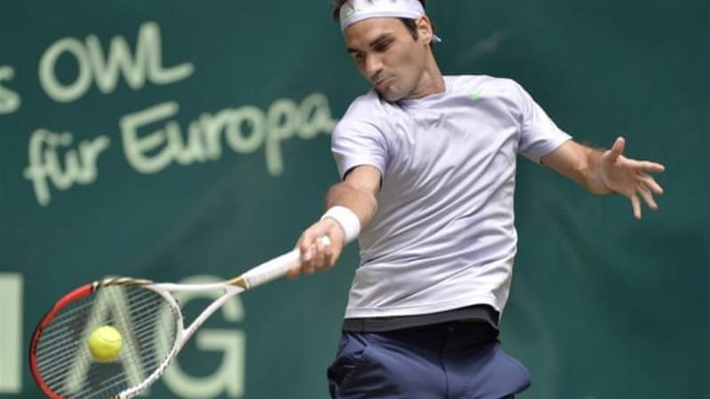 Reigning Wimbledon champion Federer is gearing up for UK grand slam at the Halle Open [AP]